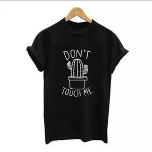 S & L LEFT Don't Touch Me Cactus Tee💞
